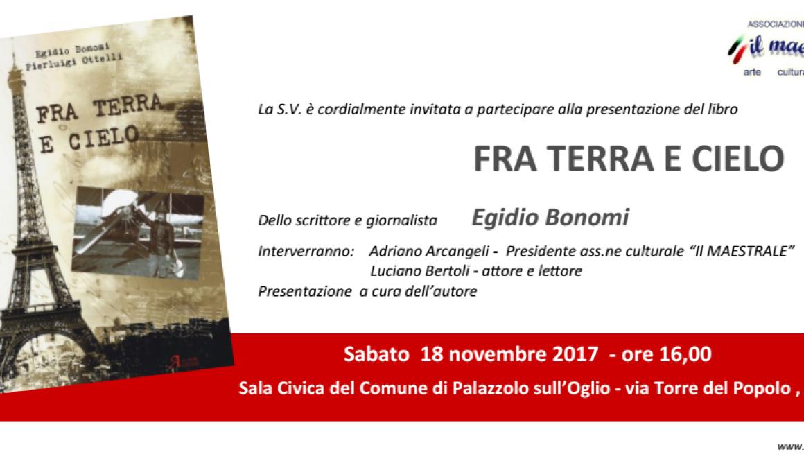 Invito alla presentazione del libro di Egidio Bonomi
