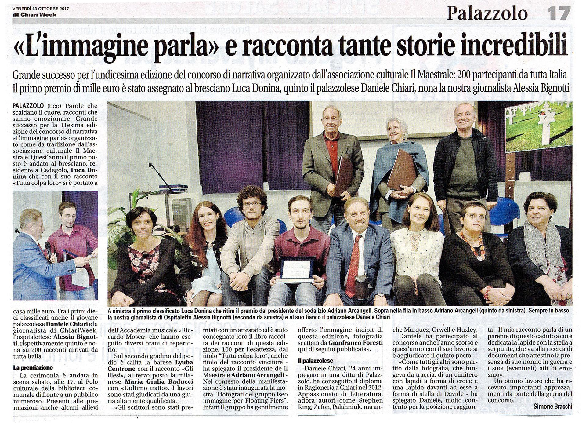 """Premiazione del Concorso di narrativa """"L'immagine parla"""""""