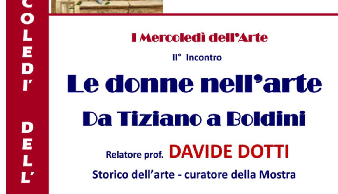 2° – I Mercoledì dell'Arte – Le donne nell'arte Da Tiziano a Boldini